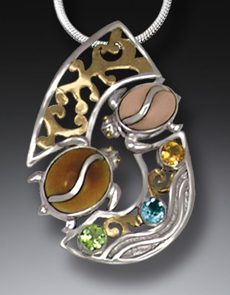 ZEALANDIA Two Turtles Slide Pendant