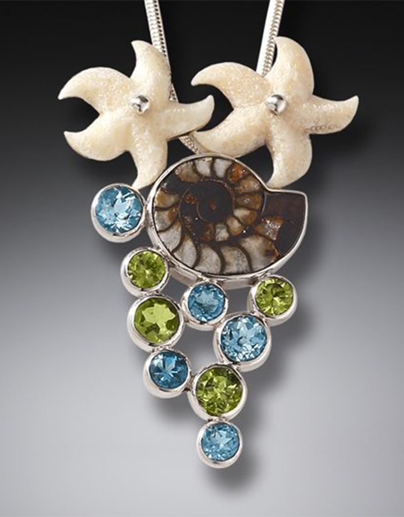 ZEALANDIA Starfish and Ammonite Pendant