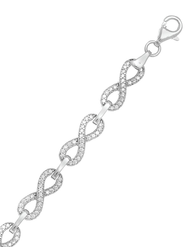 """Infinity CZ Bracelet 7.25"""""""