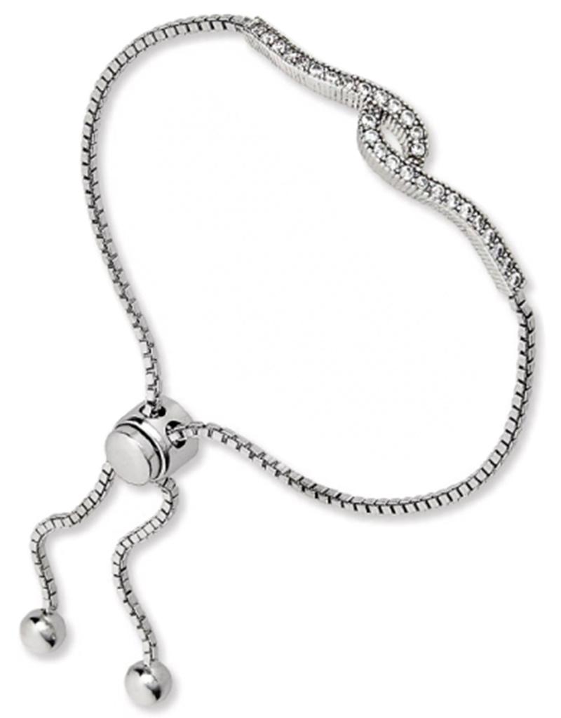 CZ Swirl Bolo Bracelet