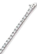 "Sterling Silver Round CZ Tennis Bracelet 6.5"""