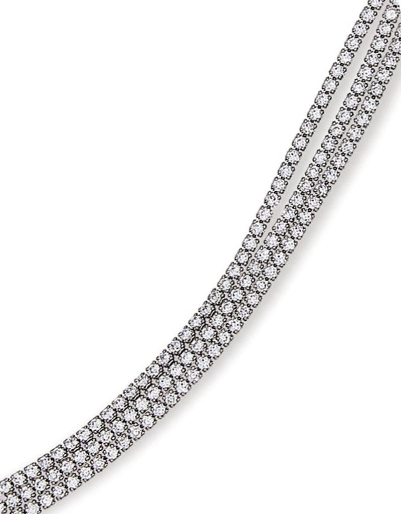 "Triple Strand CZ Tennis Bracelet 7"""