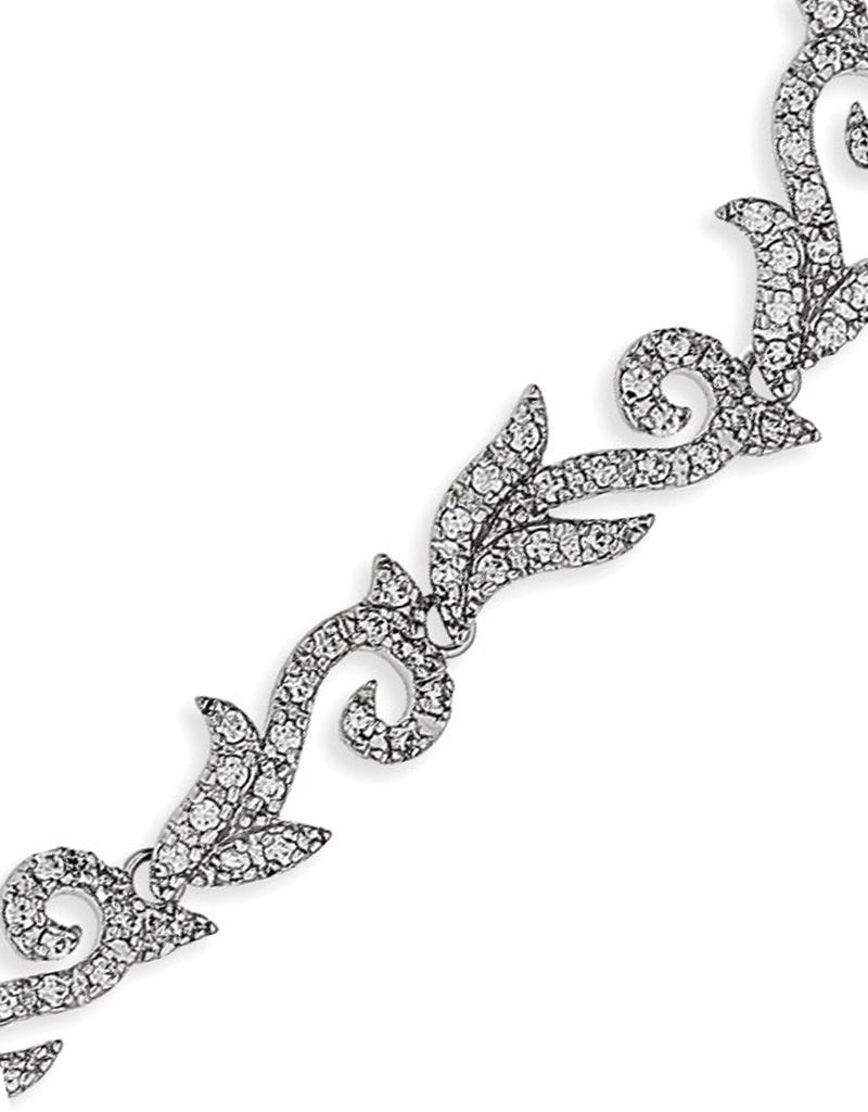 "Scroll Vine CZ Bracelet 7"""