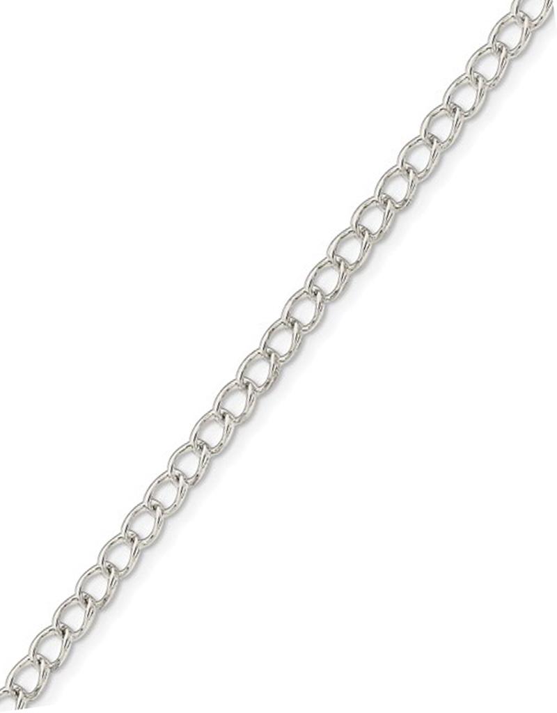 """3mm Long Curb Bracelet 7"""""""