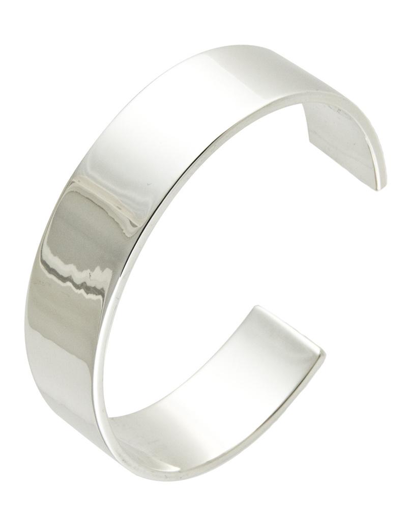 ZINA Zina Wide Plain Cuff Bracelet
