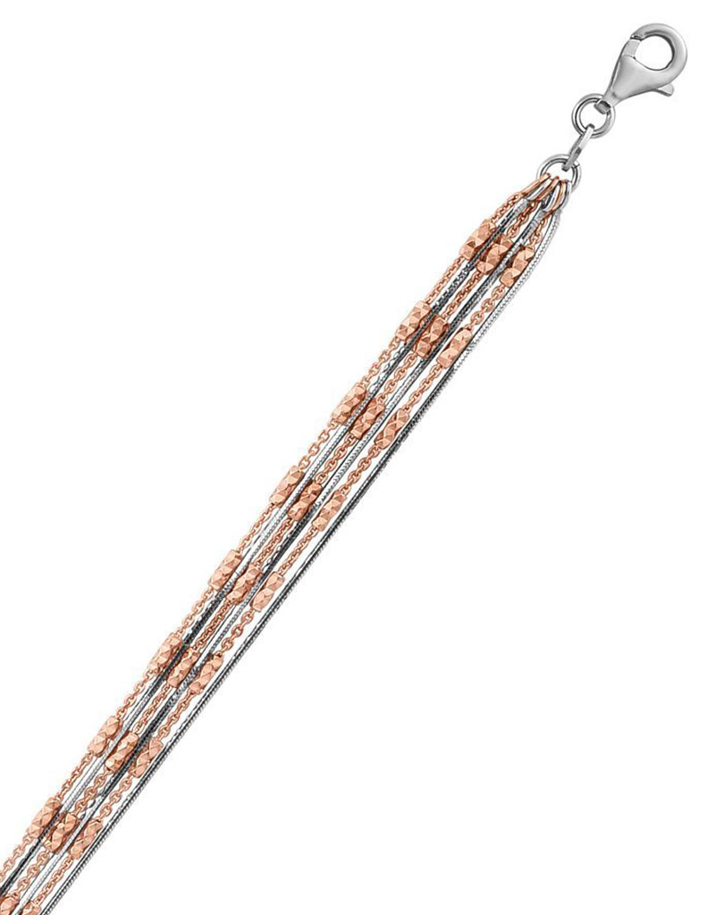 Rose Gold D/C Bead Bracelet