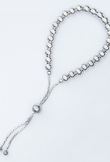 "Sterling Silver 5mm Bead Adjustable Bolo Bracelet 9.25"""