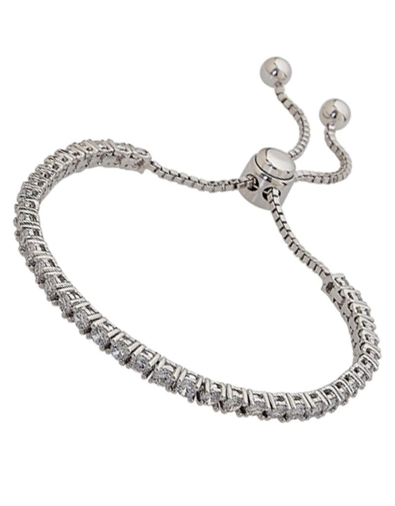 Adjustable Bolo CZ Tennis Bracelet