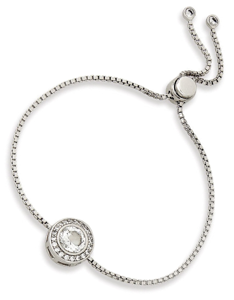 Round CZ Bolo Bracelet