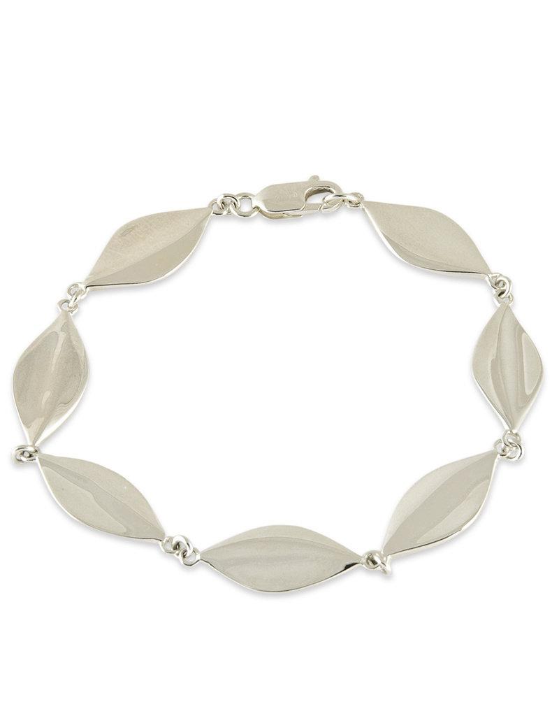 """ZINA Zina Sterling Silver Leaf Bracelet 7"""""""