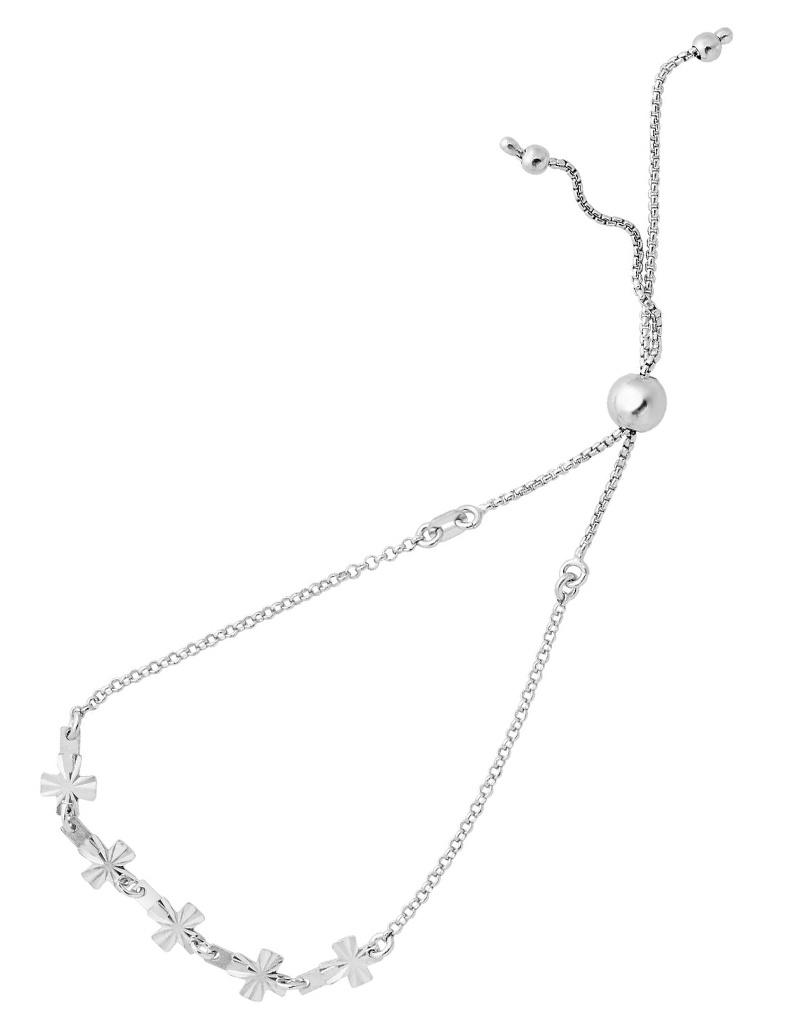 D/C 5 Cross Bolo Bracelet