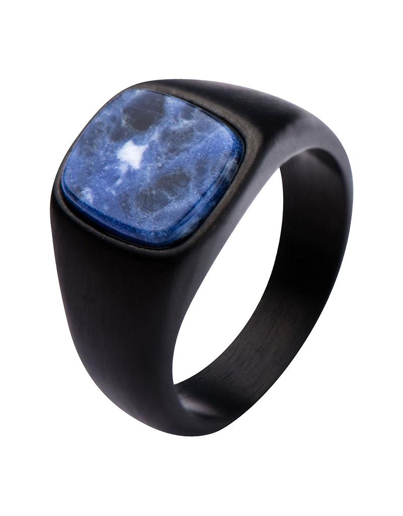 Black Sodalite Ring