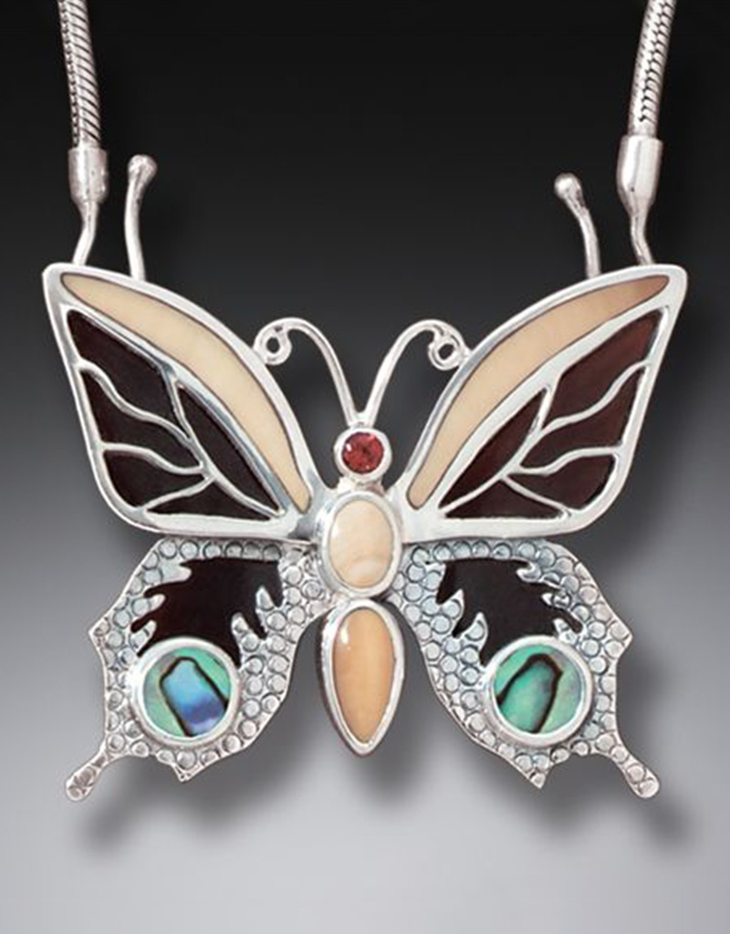 ZEALANDIA Jeweled Butterfly Necklace