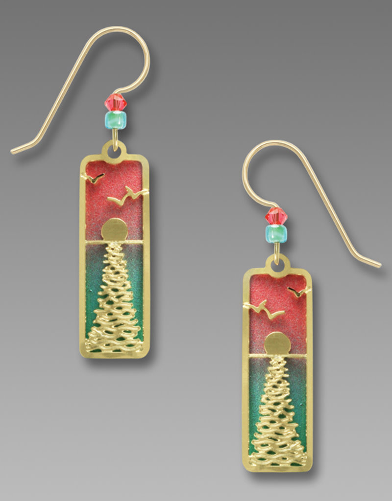 Ocean Sunset Peach and Turquoise Earrings