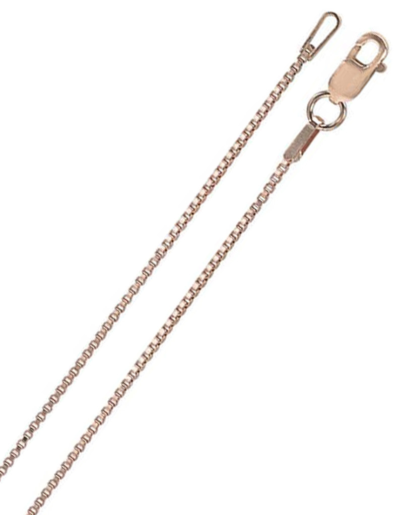 14k Rose GF 1mm Box Chain