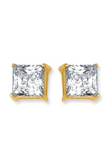 14k Gold 6mm CZ Stud Earrings