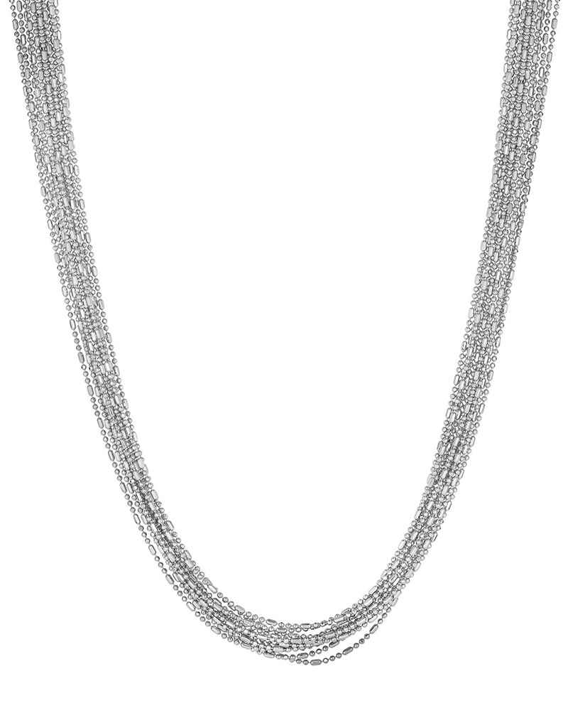 12 Strand D/C Bead Necklace 18""