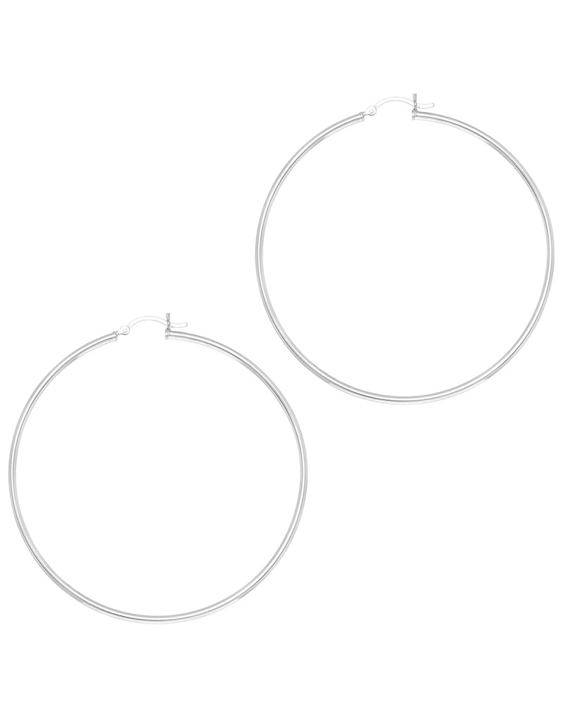 62mm Round Hoop Earrings