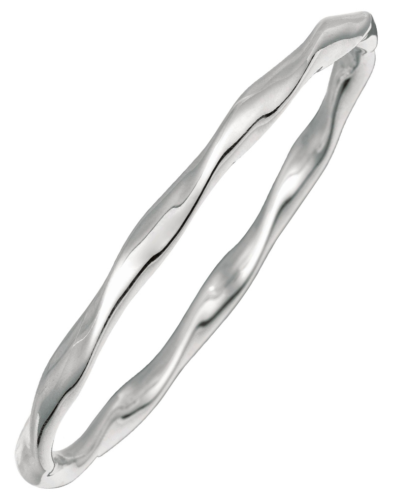 Wavy Slip On Bangle Bracelet