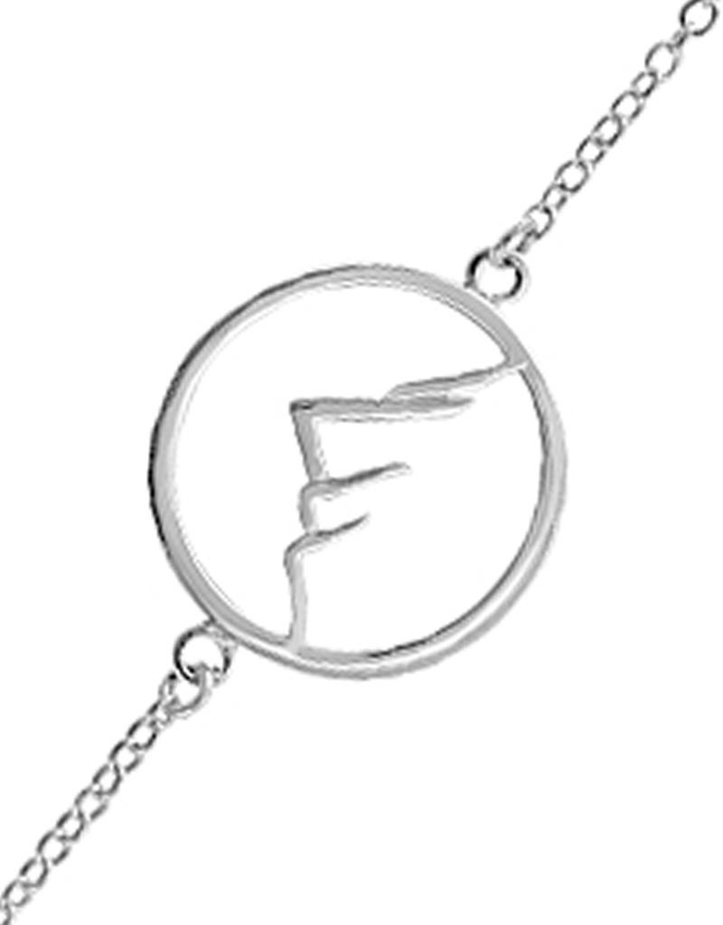 """Mountain in Circle Bracelet 7.25"""""""