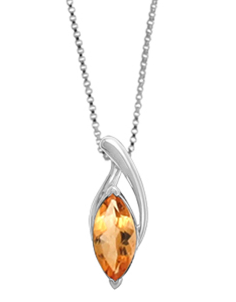 Marquise Citrine Necklace