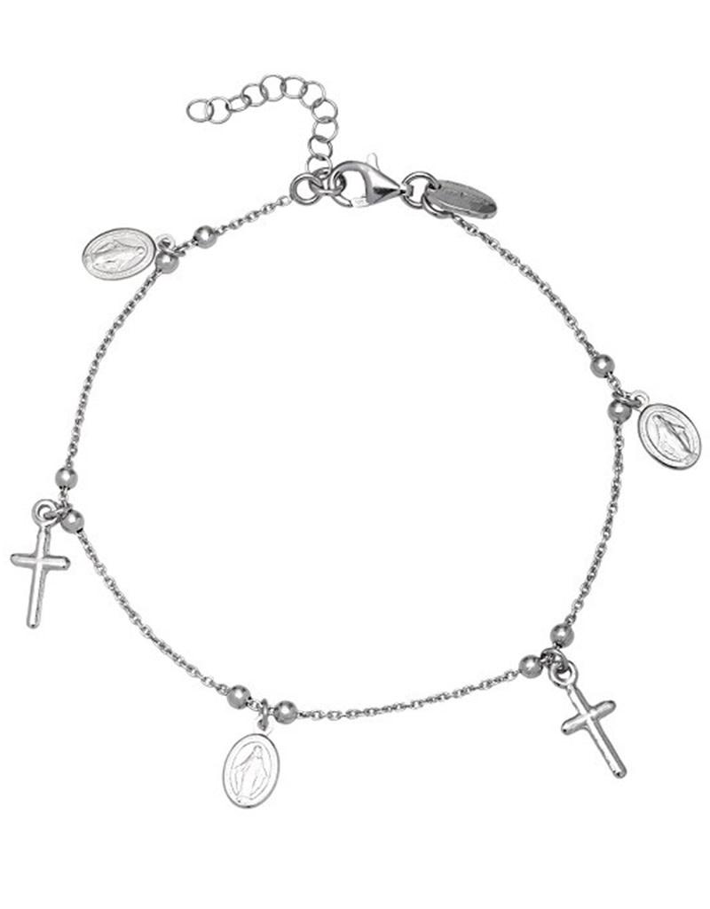 Cross Medal Bracelet