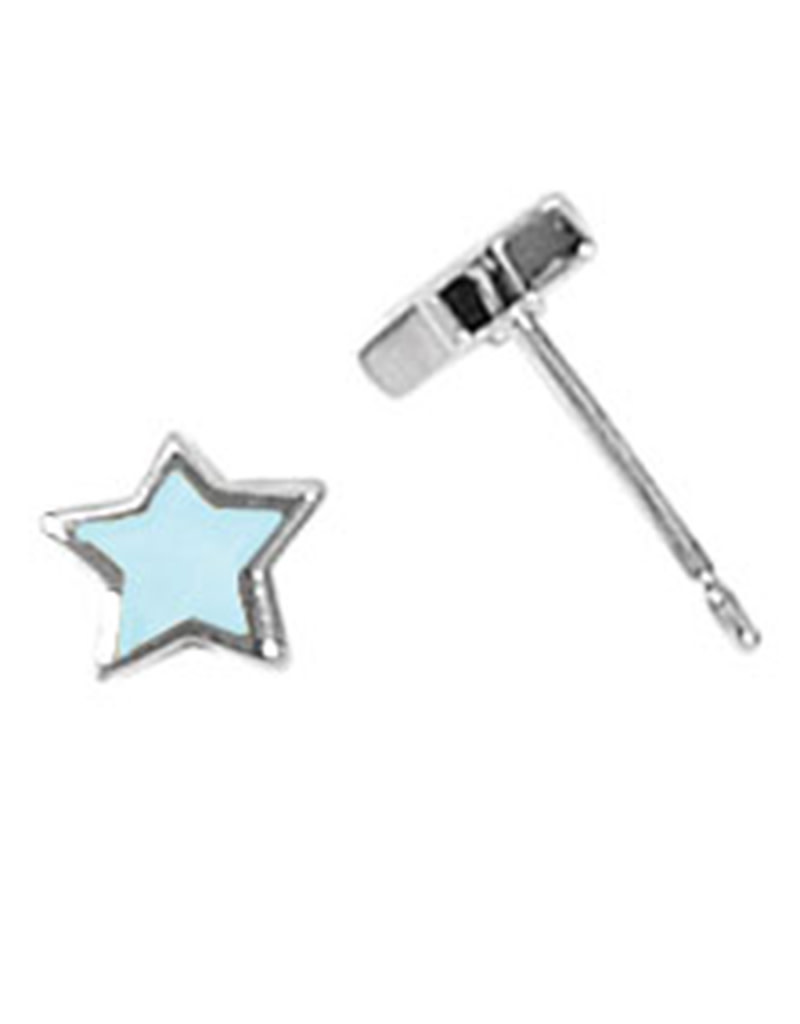 Star Blue MOP Stud Earrings 6mm