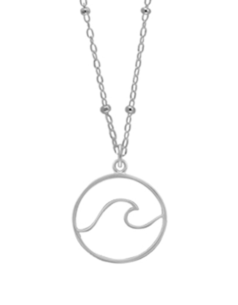 Wave in Circle Necklace
