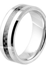 Men's Tungsten with Carbon Fiber Inlay Band Ring