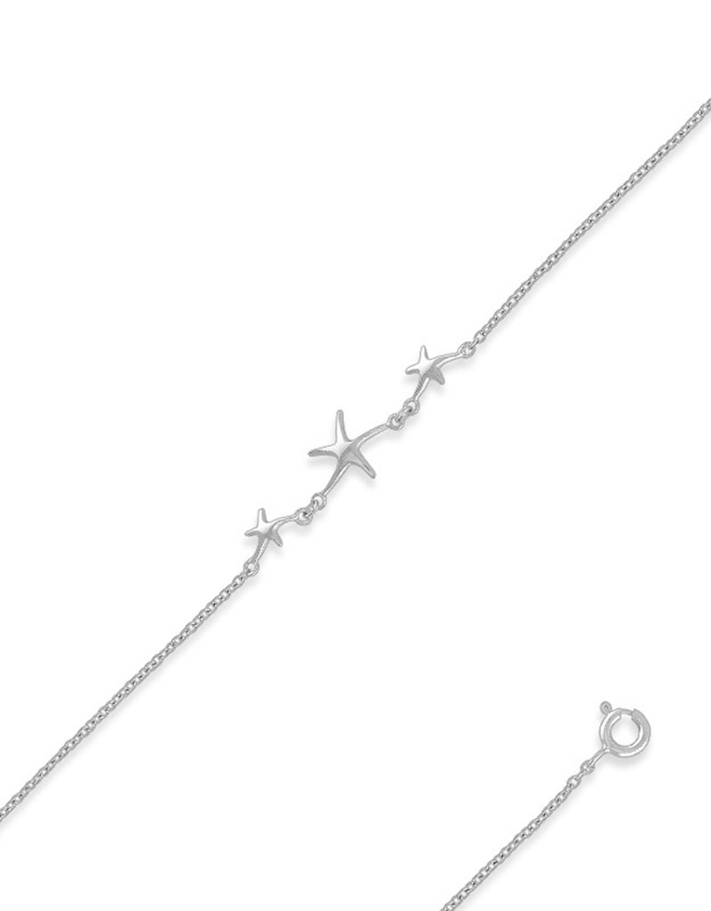 Triple Starfish Anklet
