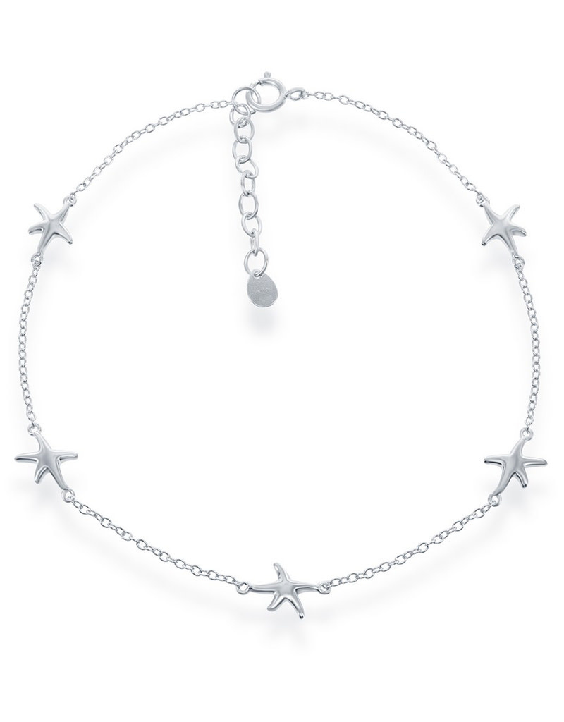 "Starfish Anklet 9""+1"""