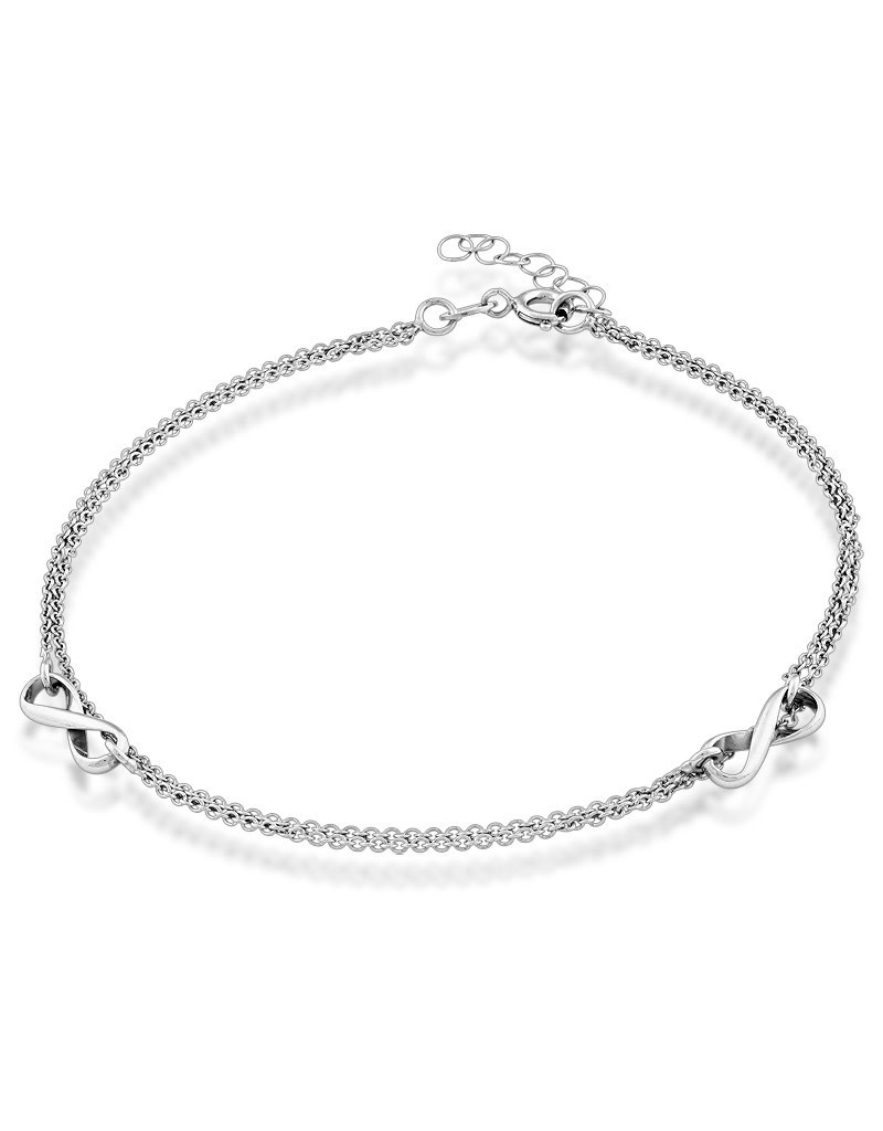 Double Strand Infinity Anklet