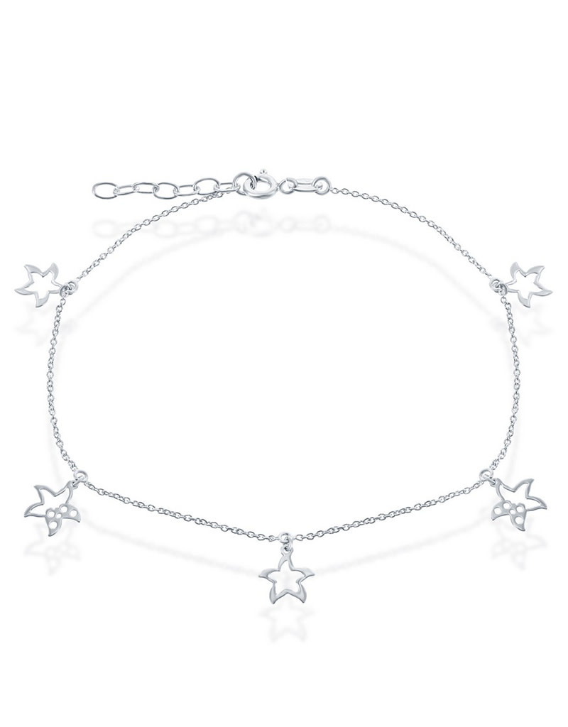 Dangling Starfish Cut-Out Anklet
