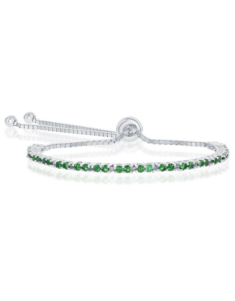 2mm Green CZ Bolo Tennis Bracelet