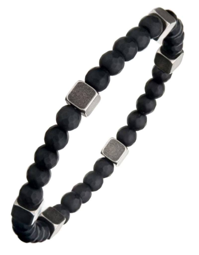 Black Hematite Bead Stretch Bracelet