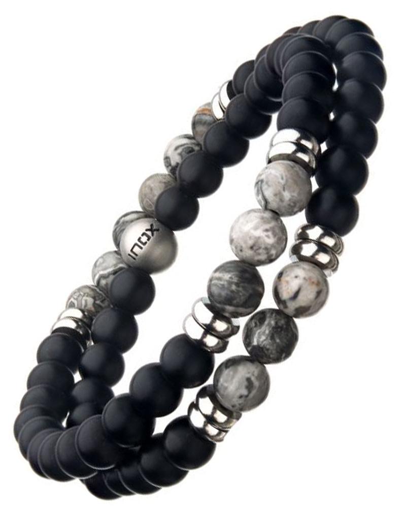 Double Wrap Jaspar Stretch Bracelet
