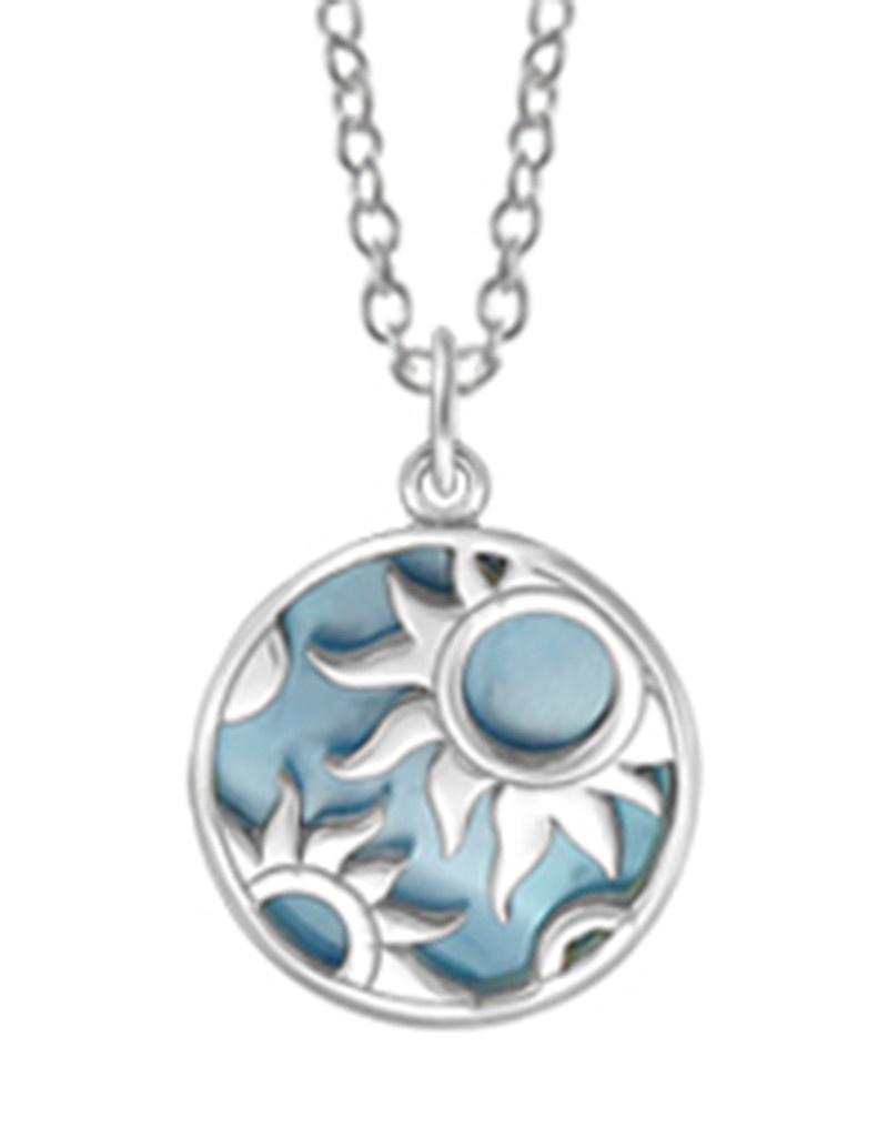 Blue MOP Sun Necklace