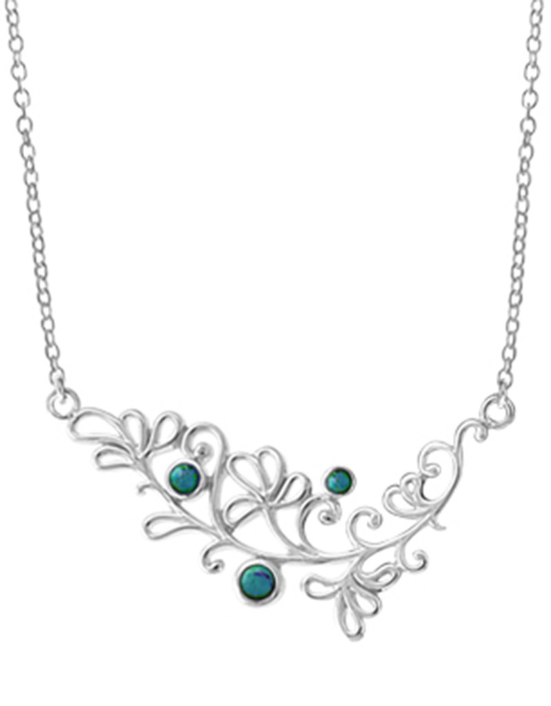Turquoise Scroll Design Necklace
