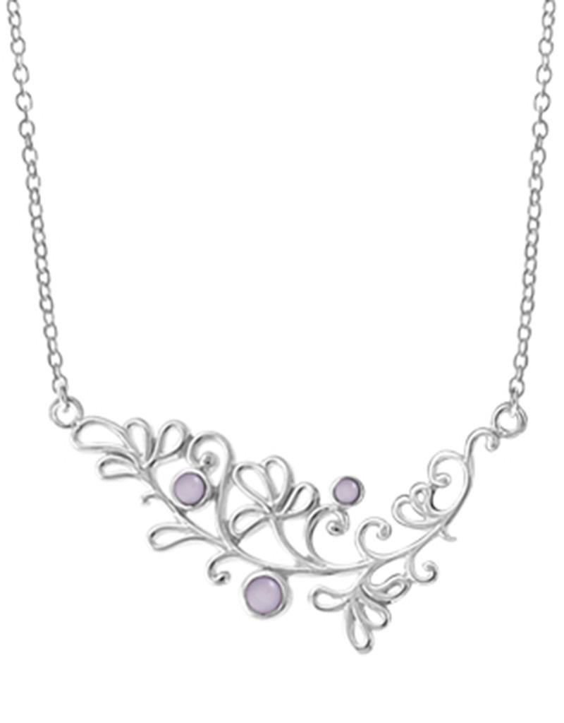 Purple MOP Scroll Design Necklace