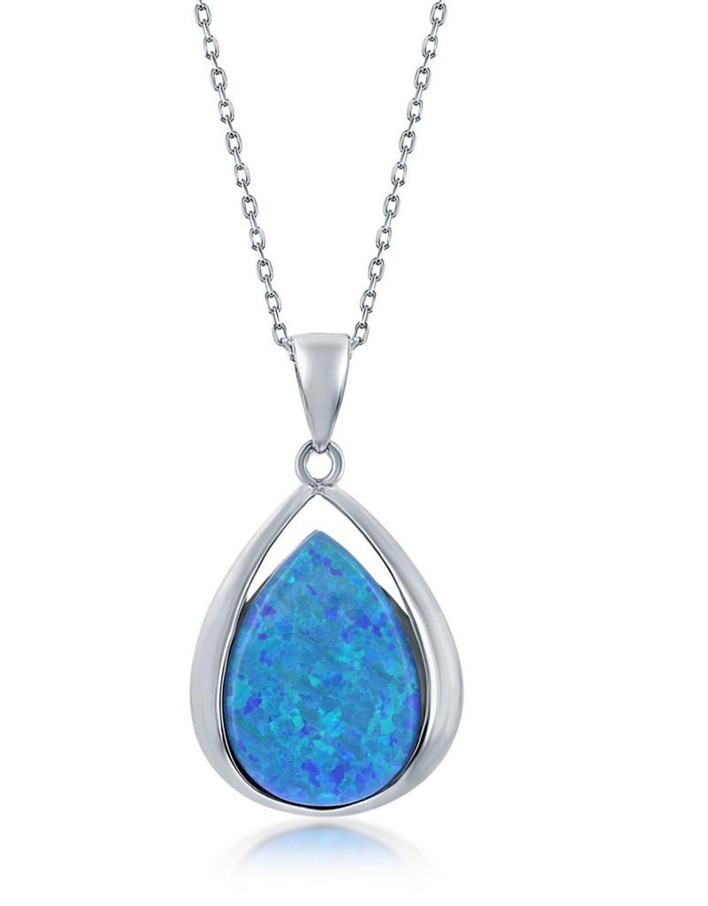 Teardrop Opal Necklace