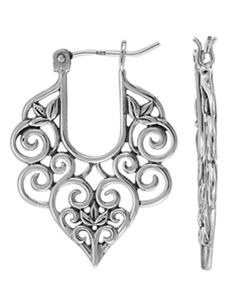 Filigree Hoop Earrings 27mm