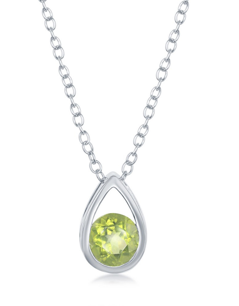 Teardrop Peridot Necklace