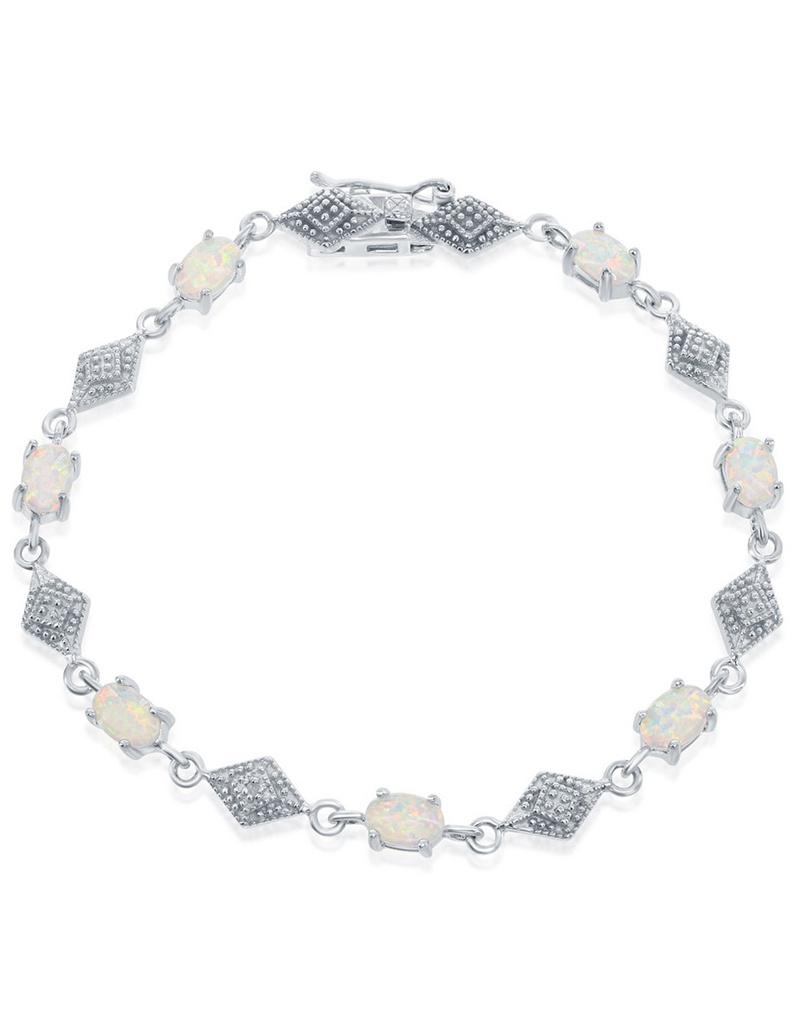 """Oval Opal Bracelet 7"""""""