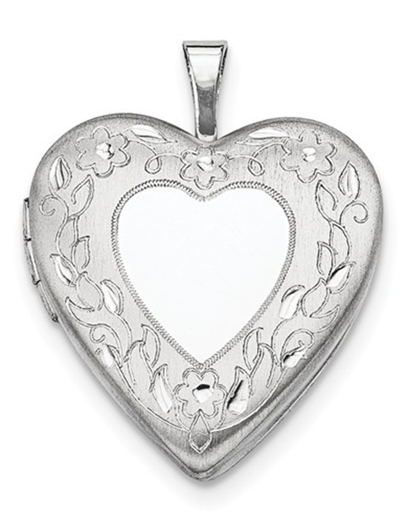 Heart Flower Locket 20mm