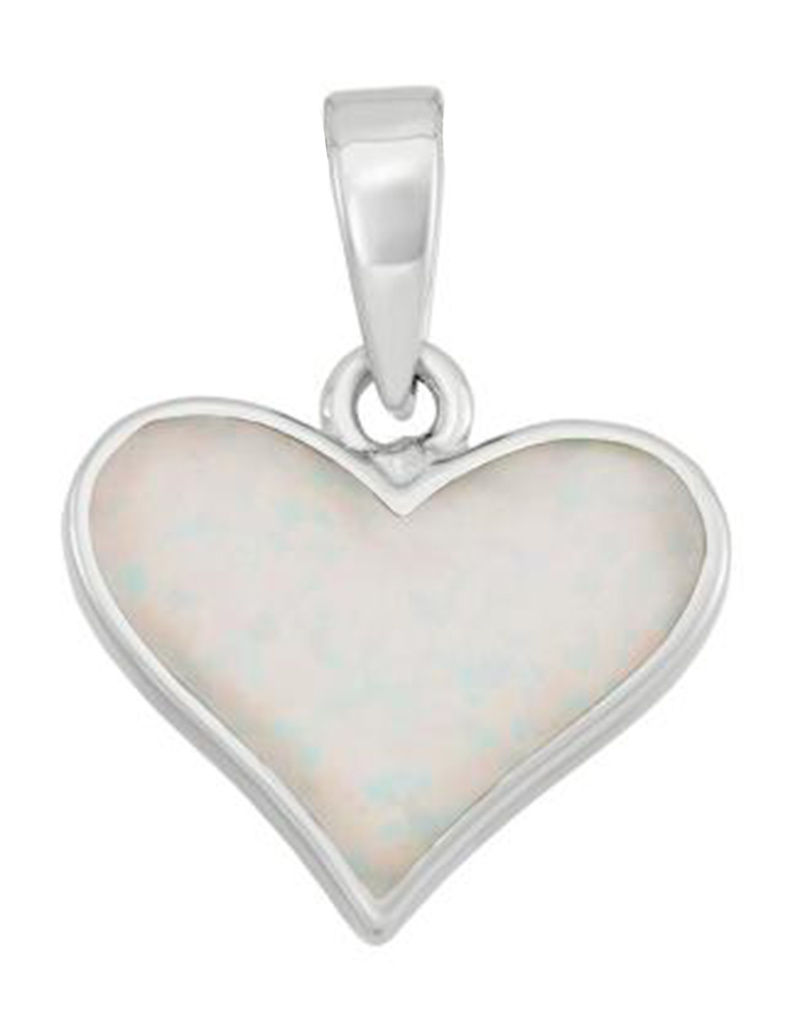 Heart Opal Pendant 22mm