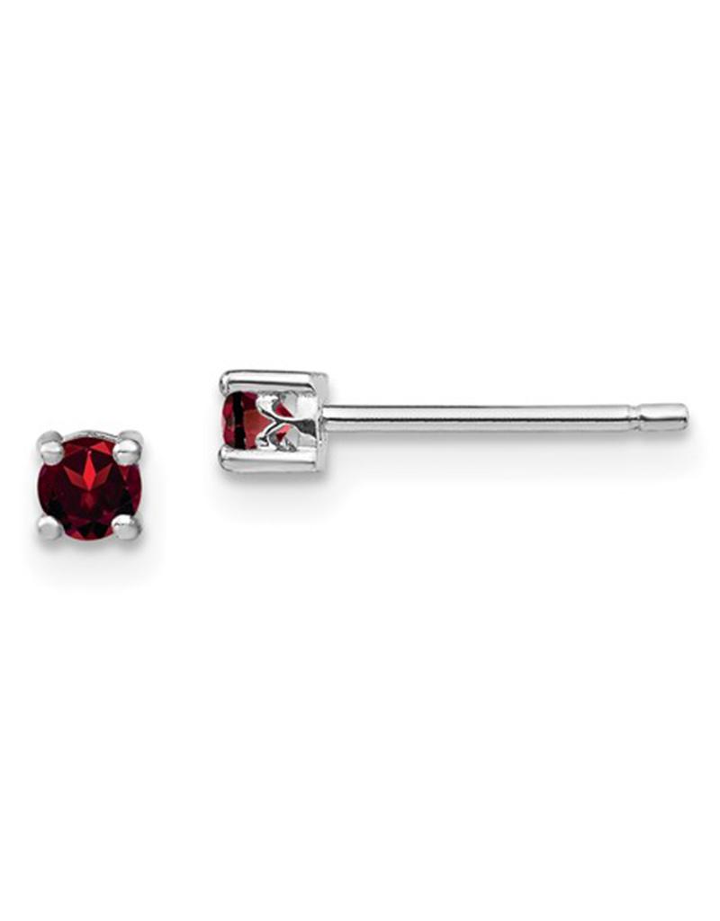 3mm Garnet Stud Earrings