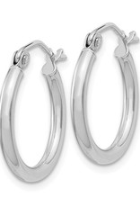 Sterling Silver 2mm Wide Hoop Earrings 17mm