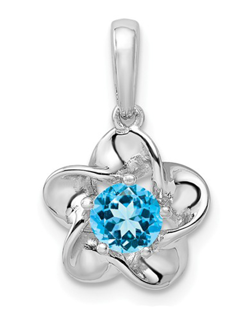 Blue Topaz Floral Necklace