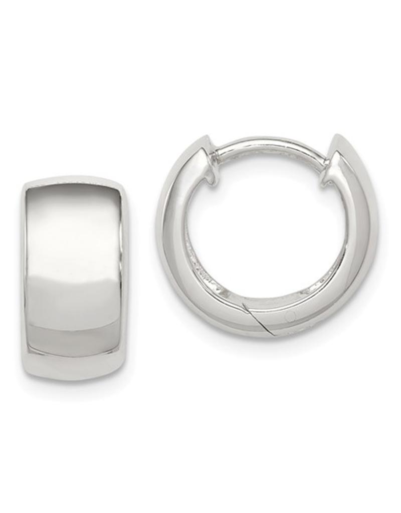 Plain Huggie Earrings 13mm