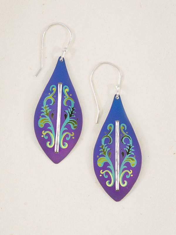 HOLLY YASHI Purple Capella Earrings *3125